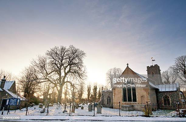 Trowse church in winter