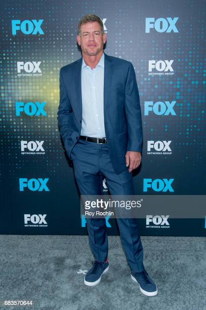 Troy Aikman attends the 2017 FOX Upfront at Wollman Rink Central Park on May 15 2017 in New York City