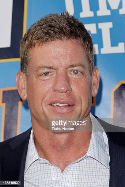Troy Aikman attends the 9th annual Jim Mora celebrity golf classic VIP cocktail reception at W Los Angeles on May 17 2015 in Los Angeles California