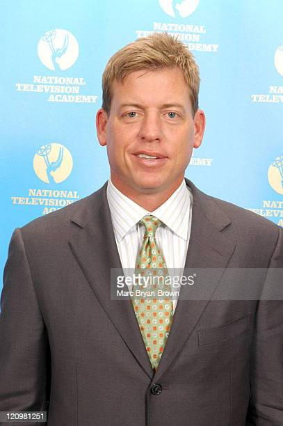Troy Aikman during 27th Annual Sports Emmy Awards Press Room at Frederick P Rose Hall at Lincoln Center in New York City New York United States