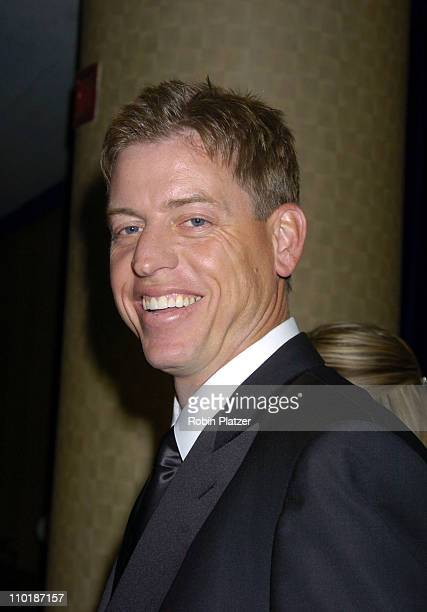 Troy Aikman of Fox Sports during The 25th Annual Sports Emmy Awards at Marriott Marquis Hotel in New York City New York United States