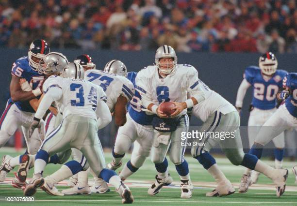 Troy Aikman Quarterback for the Dallas Cowboys during the National Football Conference East game against the New York Giants on 18 October 1999 at...