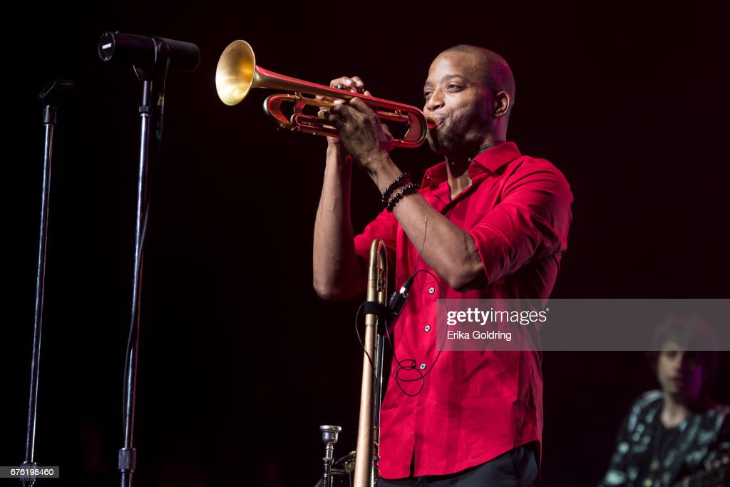 Troy Andrews aka Trombone Shorty performs during Trombone Shorty's Treme Threauxdown at Saenger Theatre on April 29, 2017 in New Orleans, Louisiana.