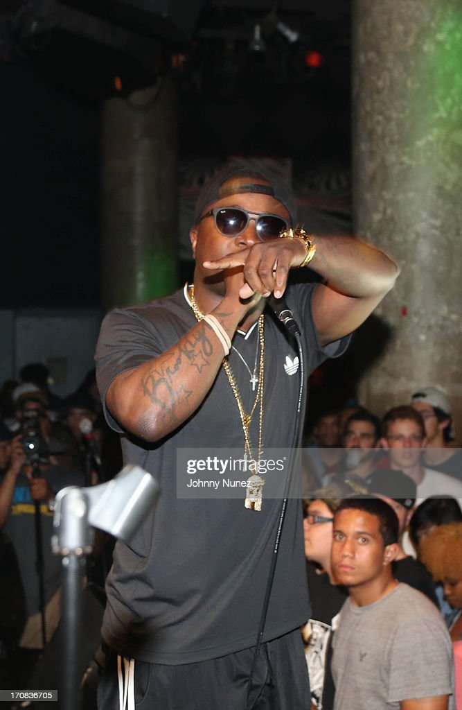 Troy Ave performs at SOB's on June 18, 2013 in New York City.