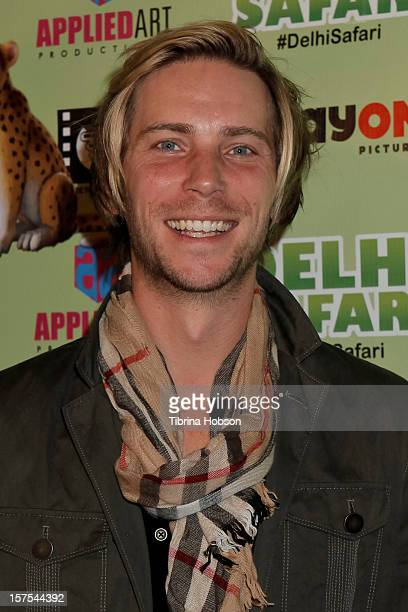 Troy Baker attends the Delhi Safari Los Angeles premiere at Pacific Theatre at The Grove on December 3 2012 in Los Angeles California