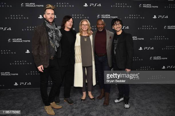 Troy Baker Norman Reedus Lindsay Wagner Tommie Earl Jenkins and Hideo Kojima attend Fractured Worlds The Art of DEATH STRANDING on November 05 2019...