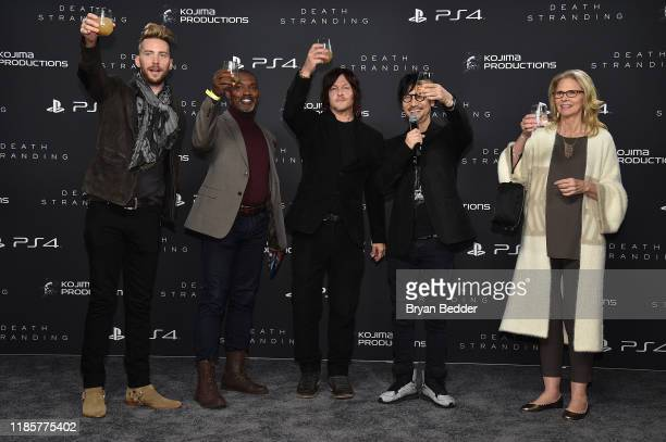 Troy Baker Tommie Earl Jenkins Norman Reedus Hideo Kojima and Lindsay Wagner attend Fractured Worlds The Art of DEATH STRANDING on November 05 2019...