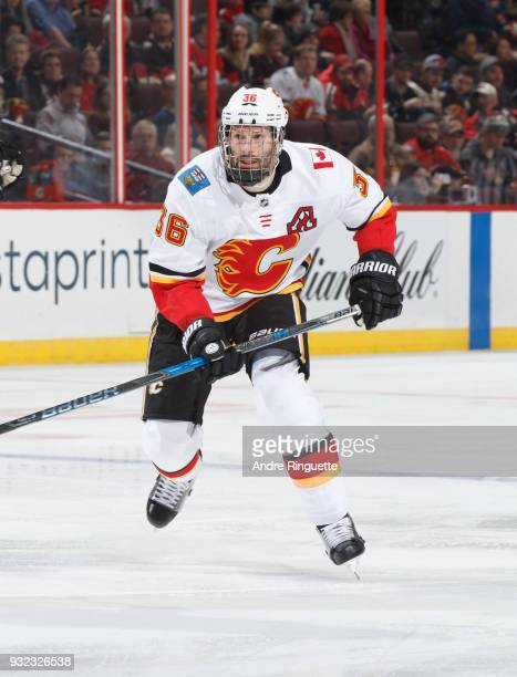 Troy Brouwer of the Calgary Flames skates against the Ottawa Senators at Canadian Tire Centre on March 9 2018 in Ottawa Ontario Canada