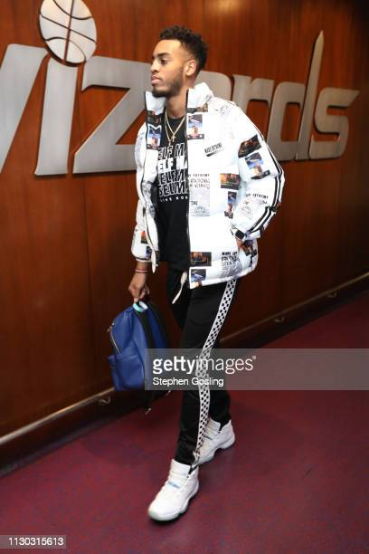 Troy Brown Jr #6 of the Washington Wizards arrives for the game against the Orlando Magic on March 13 2019 at Capital One Arena in Washington DC NOTE...