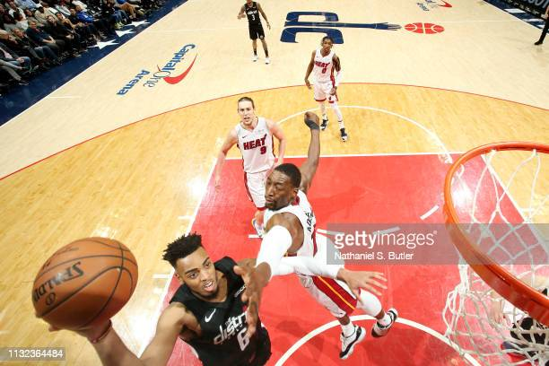 Troy Brown Jr #6 of the Washington Wizards shoots the ball against the Miami Heat on March 23 2019 at Capital One Arena in Washington DC NOTE TO USER...