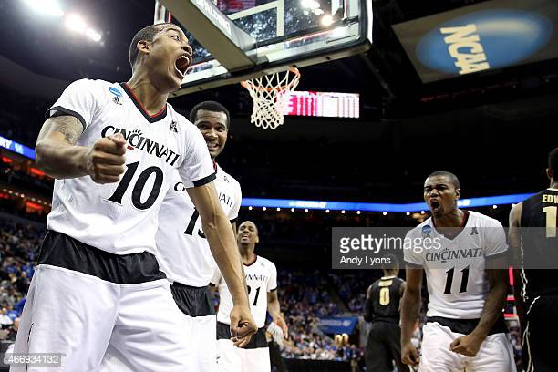 Troy Caupain of the Cincinnati Bearcats reacts against the Purdue Boilermakers in the second half during the second round of the 2015 NCAA Men's...