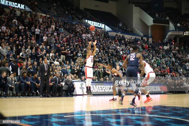 Troy Caupain of the Cincinnati Bearcats shoots for there points during the UConn Huskies Vs Cincinnati Bearcats, American Athletic Conference Semi...