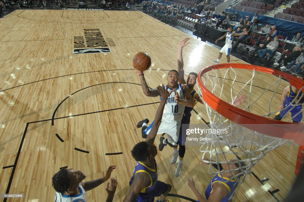 Troy Caupain #10 of the Lakeland Magic handles the ball during the NBA G-League Showcase Game 24 between the South Bay Lakers and the Lakeland Magic on January 13, 2018 at the Hershey Centre in Mississauga, Ontario Canada.