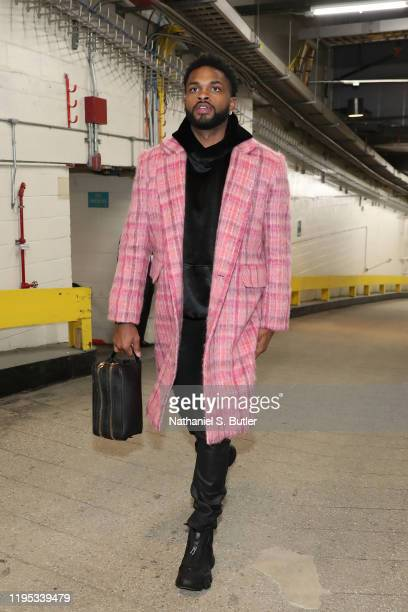 Troy Daniels of the Los Angeles Lakers arrives to the game against the New York Knicks on January 22 2020 at Madison Square Garden in New York City...