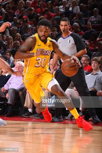 Troy Daniels of the Los Angeles Lakers handles the ball against the Houston Rockets on January 18 2020 at the Toyota Center in Houston Texas NOTE TO...