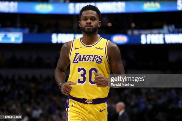 Troy Daniels of the Los Angeles Lakers in the second quarter at American Airlines Center on November 01 2019 in Dallas Texas NOTE TO USER User...