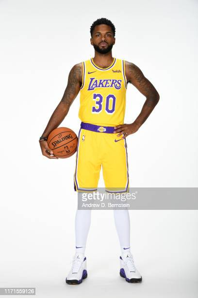 Troy Daniels of the Los Angeles Lakers poses for a portrait during media day on September 27 2019 at the UCLA Health Training Center in El Segundo...