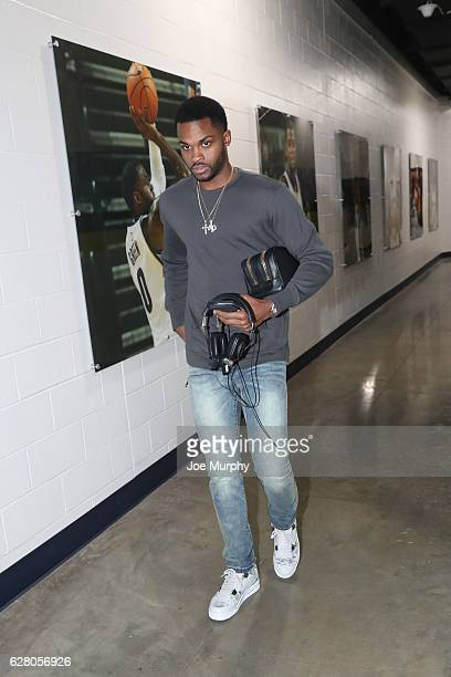 Troy Daniels of the Memphis Grizzlies arrives before the game against the Los Angeles Lakers on December 3 2016 at FedExForum in Memphis Tennessee...