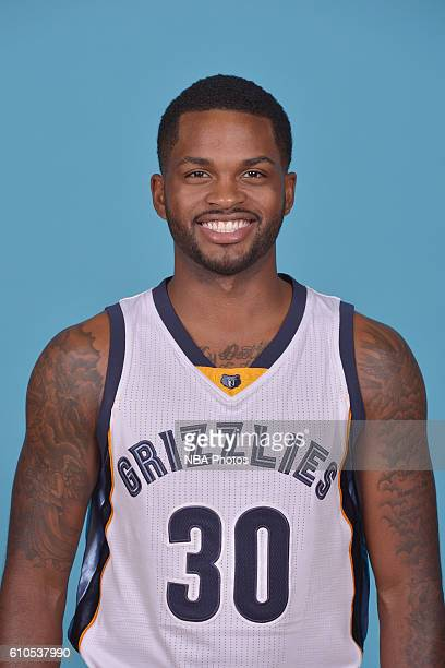 Troy Daniels of the Memphis Grizzlies poses for a head shot during the 20162017 Memphis Grizzlies Media Day on September 26 2016 at FedExForum in...