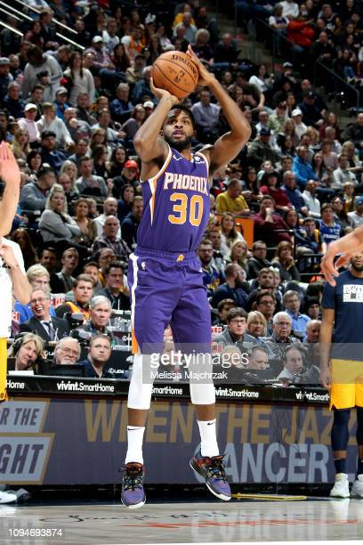 Troy Daniels of the Phoenix Suns shoots the ball against the Utah Jazz on February 6 2019 at Vivint Smart Home Arena in Salt Lake City Utah NOTE TO...