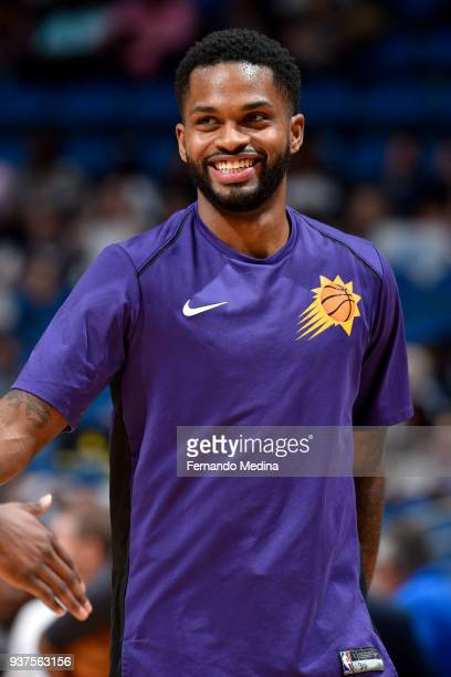 Troy Daniels of the Phoenix Suns warms up before the game against the Orlando Magic on March 24 2018 at Amway Center in Orlando Florida NOTE TO USER...