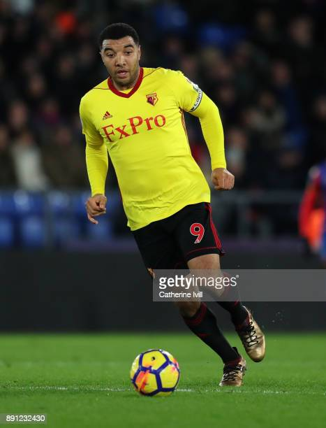 Troy Deeney of Watford during the Premier League match between Crystal Palace and Watford at Selhurst Park on December 12 2017 in London England