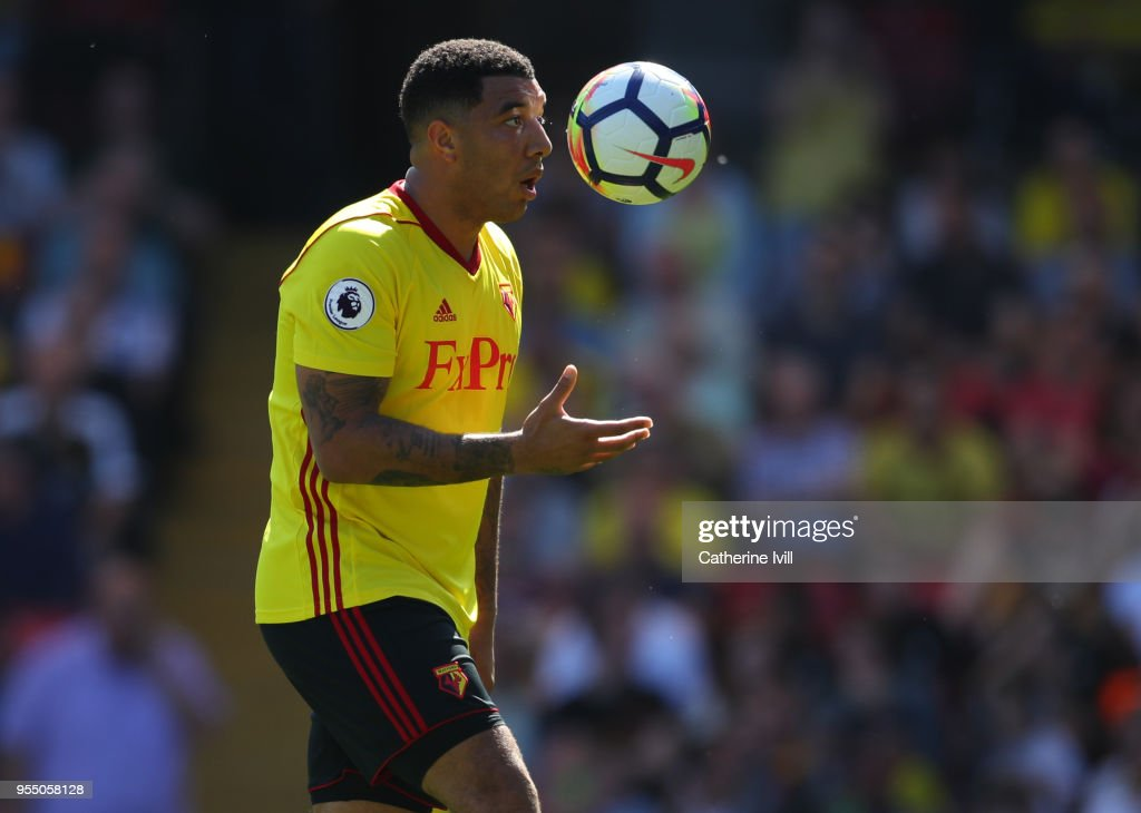 Troy Deeney of Watford during the Premier League match between Watford and Newcastle United at Vicarage Road on May 5, 2018 in Watford, England.