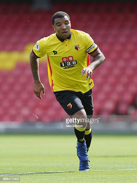 Troy Deeney of Watford during the preseason friendly match between Watford and Lorient at Vicarage Road on August 6 2016 in Watford England