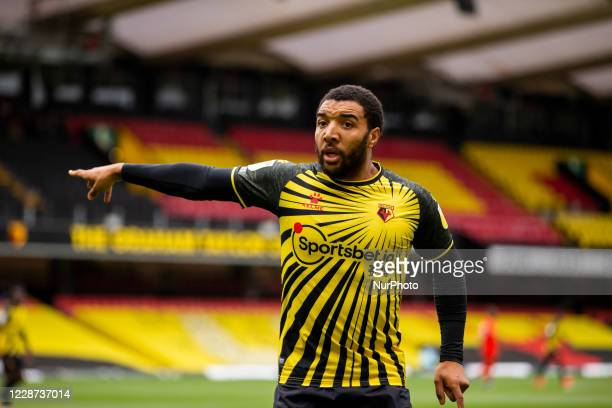 Troy Deeney of Watford during the Sky Bet Championship match between Watford and Luton Town at Vicarage Road Watford England on September 26 2020