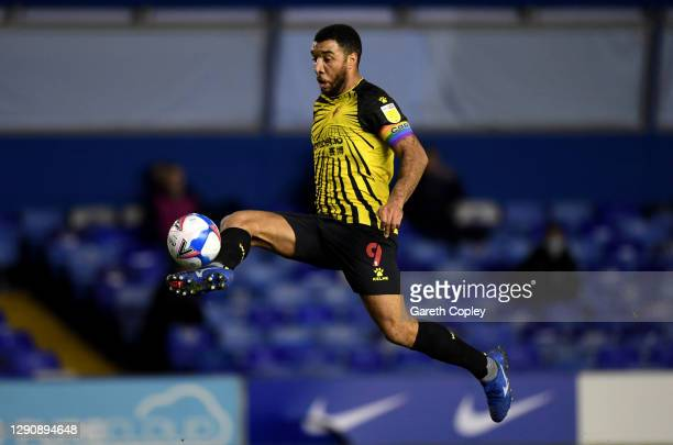 Troy Deeney of Watford during the Sky Bet Championship match between Birmingham City and Watford at St Andrew's Trillion Trophy Stadium on December...