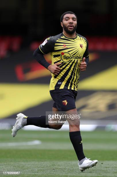 Troy Deeney of Watford in action during the Sky Bet Championship match between Watford and Luton Town at Vicarage Road on September 26 2020 in...