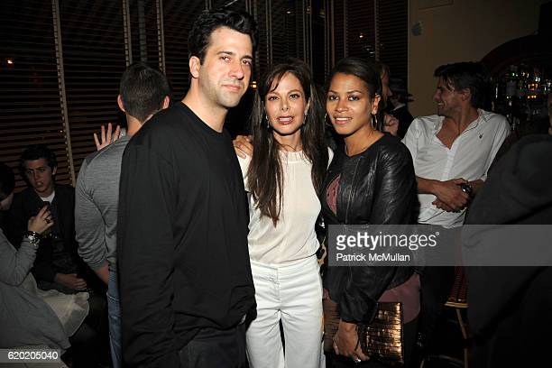 Troy Garity Allison Sarofim and Simone Bent attend THE CINEMA SOCIETY MICHAEL KORS host the after party for IRON MAN at The Odeon on April 28 2008 in...