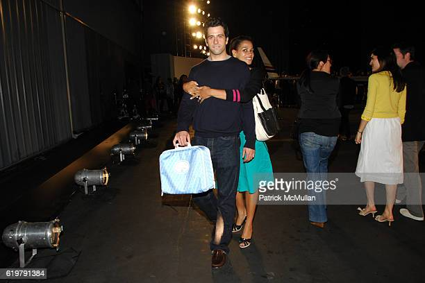 Troy Garity and Simone Bent attend CHANEL Cruise Show LA Post Show at Santa Monica Airport on May 18 2007 in Santa Monica CA