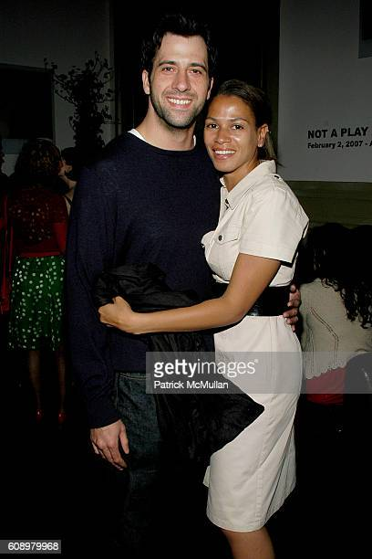 Troy Garity and Simone Bent attend THE CINEMA SOCIETY and THE WALL STREET JOURNAL after party for Away from Her at Soho Grand Hotel on May 2 2007 in...