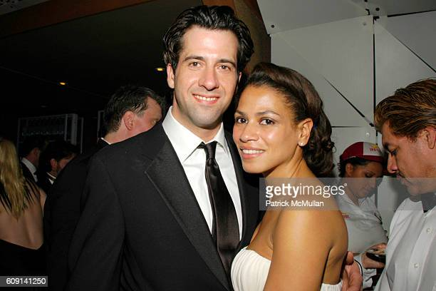 Troy Garity and Simone Bent attend VANITY FAIR Oscar Party at Morton's on February 25 2007 in Los Angeles CA