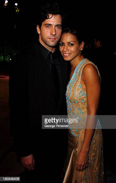 Troy Garity and Simone Bent during 2005 Vanity Fair Oscar Party Arrivals at Mortons in Los Angeles California United States