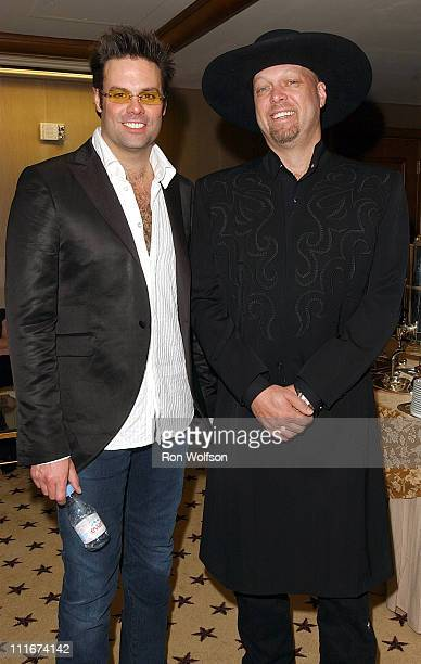 Troy Gentry and Eddie Montgomery during The 39th Annual Academy of Country Music Awards Nominations at St Regis Hotel in Century City CA United States
