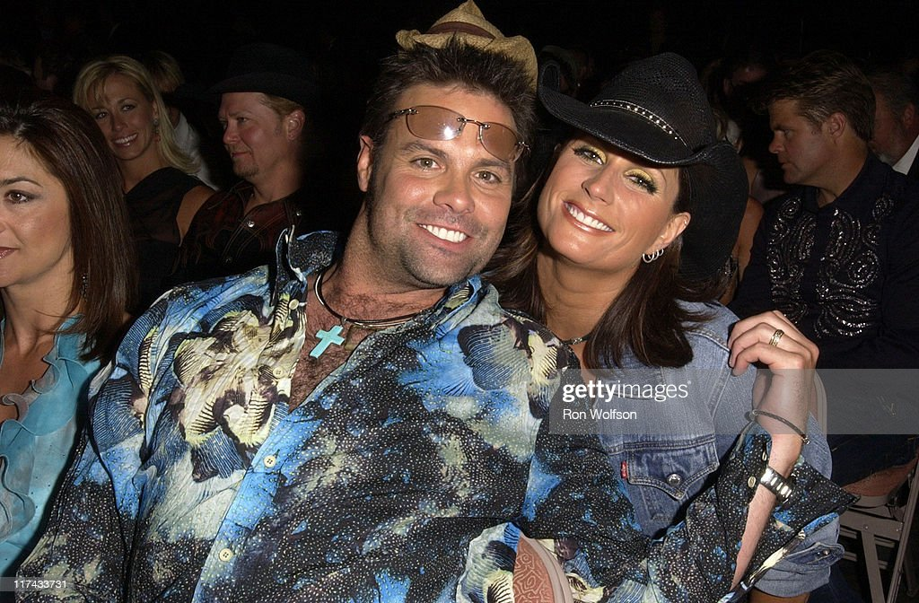 Troy Gentry of Montgomery Gentry and Terri Clark during 39th Annual Academy of Country Music Awards - Backstage and Audience at Mandalay Bay Resort and Casino in Las Vegas, Nevada, United States.