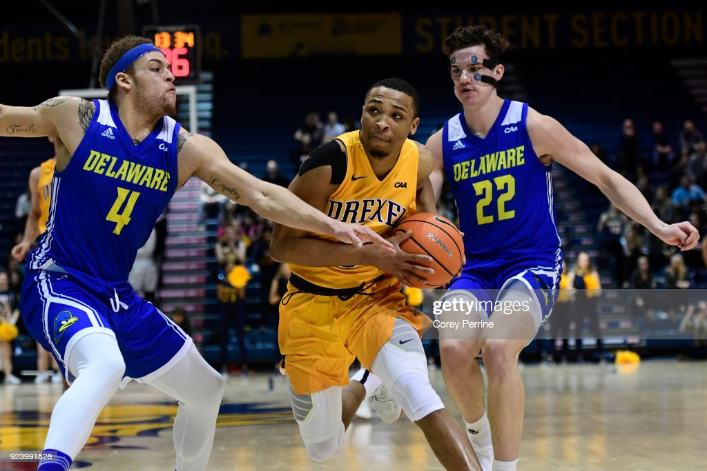 los angeles b4515 cc4c2 Troy Harper of the Drexel Dragons drives to the basket ...