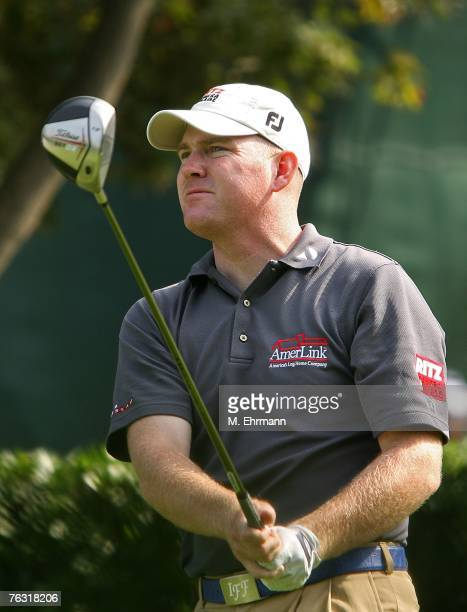 Troy Matteson swings on the tenth hole during the second round of The Barclays, the inaugural event of the new PGA TOUR Playoffs for the FedExCup at...