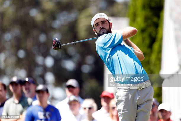 Troy Merritt of the United States on the 6th tee box during the third round of the Travelers Championship on June 24 at TPC River Highlands in...