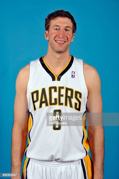Troy Murphy of the Indiana Pacers poses for a portrait on NBA Media Day on September 29 2008 at Conseco Fieldhouse in Indianapolis Indiana NOTE TO...