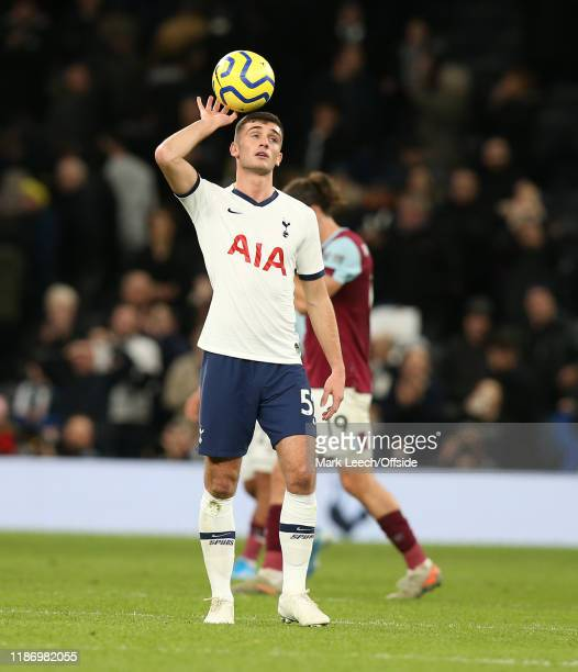 Troy Parrott of Tottenham during the Premier League match between Tottenham Hotspur and Burnley FC at Tottenham Hotspur Stadium on December 7 2019 in...