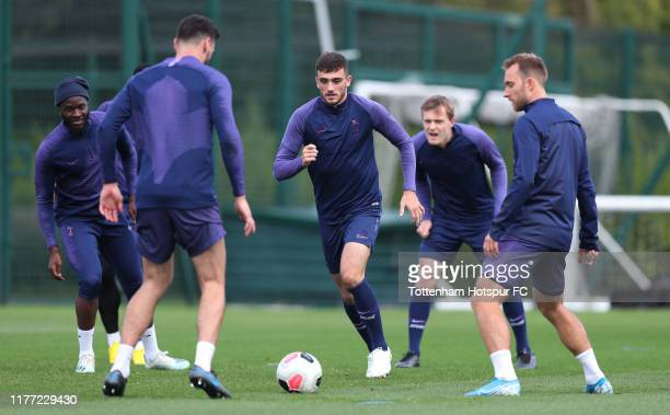 Troy Parrott of Tottenham Hotspur during the Tottenham Hotspur training session at Tottenham Hotspur Training Centre on September 26 2019 in Enfield...