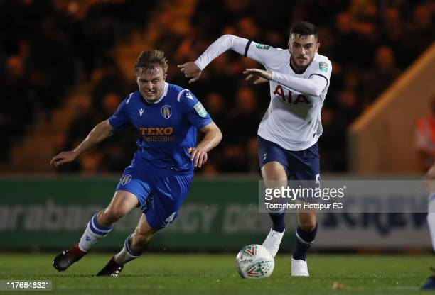 Troy Parrott of Tottenham Hotspur in action during the Carabao Cup Third Round match between Tottenham Hotspur and Colchester United at JobServe...