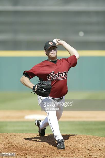 Troy Patton of the Houston Astros pitches against the Washington Nationals during a Spring Training game on March 7 2007 at Osceola County Stadium in...