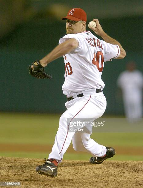 Troy Percival of the Anaheim Angels picked up his 300th career save in 20 victory over the Texas Rangers at Angel Stadium on Wednesday July 28 2004