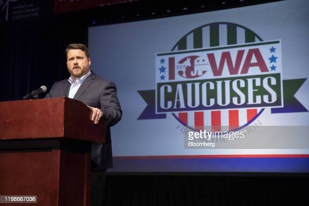 Troy Price chairman of the Iowa Democratic Party speaks during a news conference in Des Moines Iowa US on Tuesday Feb 4 2020 Iowa Democrats will...