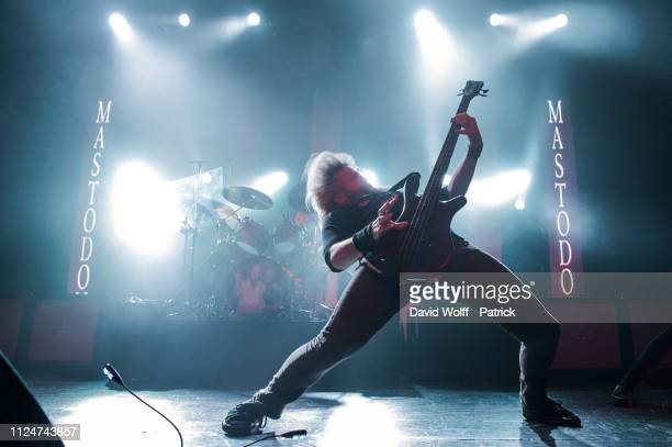 Troy Sanders from Mastodon performs at Casino de Paris on February 13, 2019 in Paris, France.