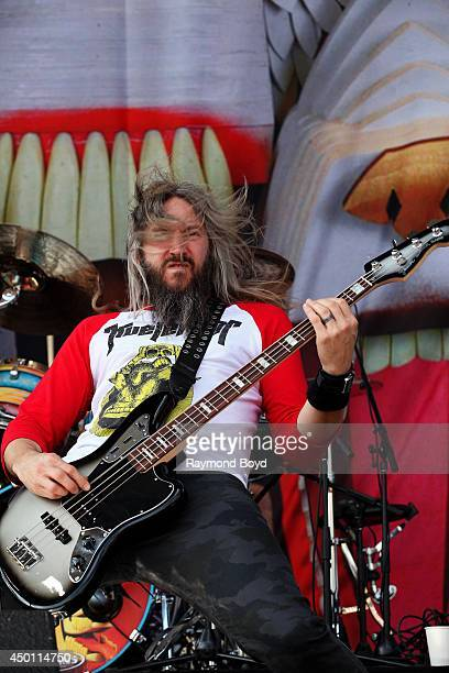 Troy Sanders from Mastodon performs at Columbus Crew Stadium on May 18 2014 in Columbus Ohio